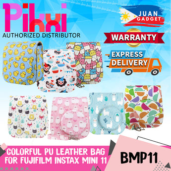 Pikxi BMP11 Fujifilm Instax Mini 11 PU Leather Camera Case Bag Shoulder Bag Protector Cover Case (Colorful Animal Designs)