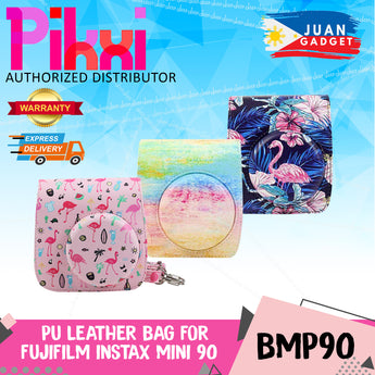 Pikxi Fujifilm Instax Mini 90 Camera Leather Case Bag Cute Designs