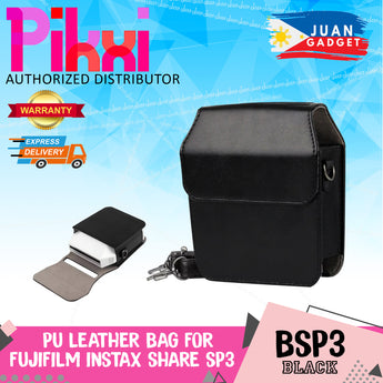Pikxi BSP3 Fujifilm SP-3 Instax Square Instant Camera Bag Case Leather Black