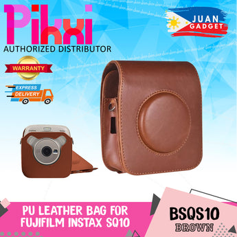 Pikxi BSQS10 Fujifilm Instax Square SQ10 Leather Camera Case Bag Brown