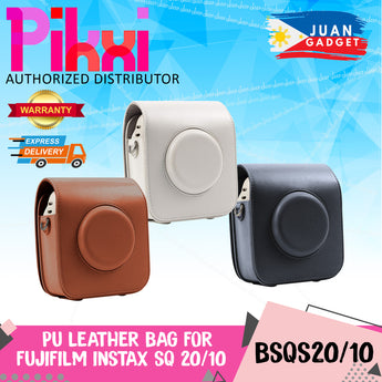 Pikxi BSQS2010 Fujifilm Instax Square SQ20 SQ10 Leather Camera Case Bag