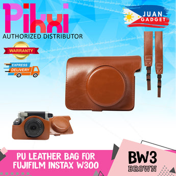 Pikxi BW3 Fujifilm Instax Wide 300 Instant Camera Leather Bag Case Brown