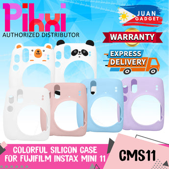 Pikxi CMS11 Soft Silicone Protective Camera Case Cover Carrying Bag For Fujifilm Instax Mini 11 Film Instant Cameras