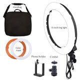 PXEL RL-20 LED 18 Inch Ring Light LED 240 Beads with Orange Diffuser