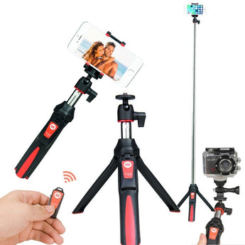 Benro Mefoto MK10 Mini Mobile Tripod For phone, Gopro ,Camera Bluetooth Control Selfie Stick Tripod Red