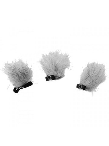 Boya BY-B05 Fluffy Fur Windshield for Lavalier Microphone - 3-pack for BY-M1, BY-WM8, BY-WM6, BY-WM5, BY-WM4, BY-LM400, BY-LM300 and more