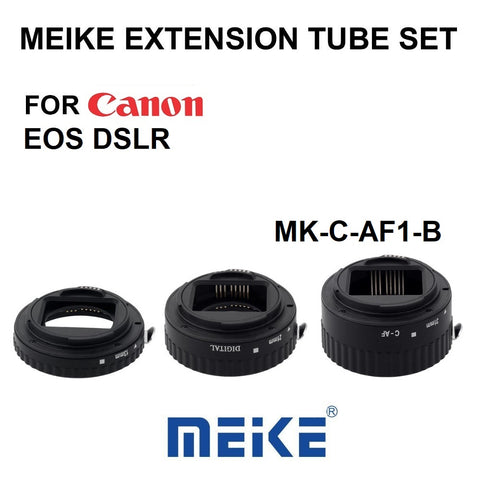 Meike MK-C-AF1-B Plastic Autofocus AF Confirm Macro Extension Tube for Canon EOS DSLR 13mm 21mm 31mm