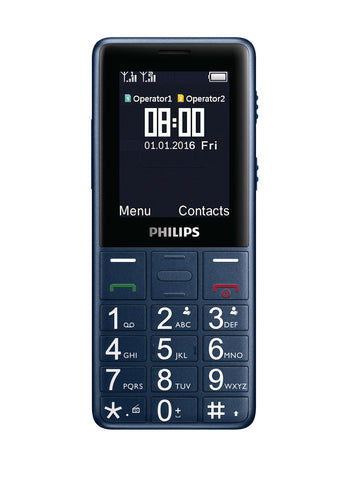 Philips Xenium E311 Basic Mobile Phone Dual Sim with Bluetooth