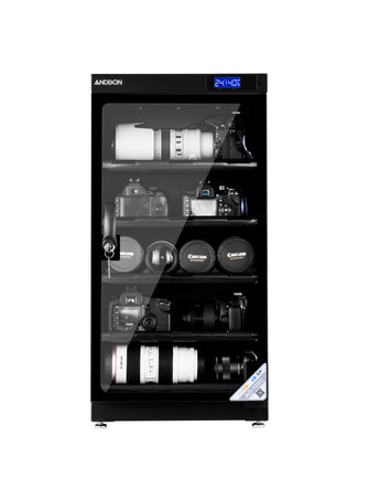 Andbon AD-100C Horizontal Dry Cabinet Box 100L Liters Digital Display with Manual Humidity Controller