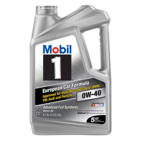 Mobil 1 120760 Synthetic Motor Oil 0W-40, 5 Quarts