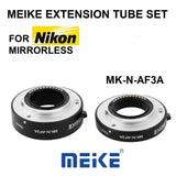 Meike MK-N-AF3A Metal Macro Extension Tube Auto Focus Adapter Ring 10mm 16mm for Nikon Nikon 1 S1 J3 V2 J2 V1 J1 AW1