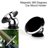 Magnetic 360 Car Dashboard Phone Mount Holder Magnet BLACK