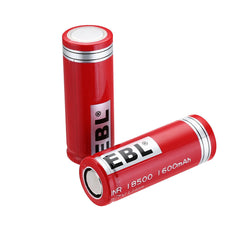 EBL 18500 Li-ion Battery 1600 mAh, 3.7V 2pcs/set
