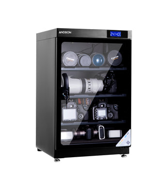 Andbon AD-80C Dry Cabinet Box 80L Liters Digital Display with Manual Humidity Controller