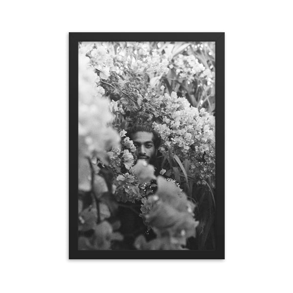 sanjay in flowers, print