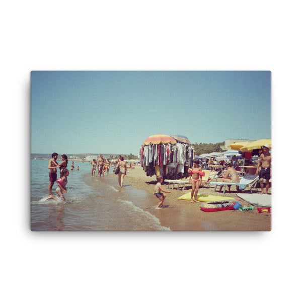 santa severa beach, canvas