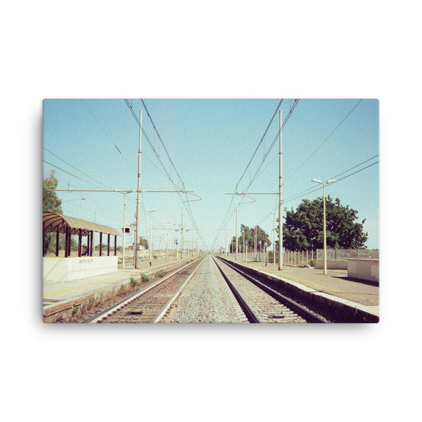 santa severa station, canvas
