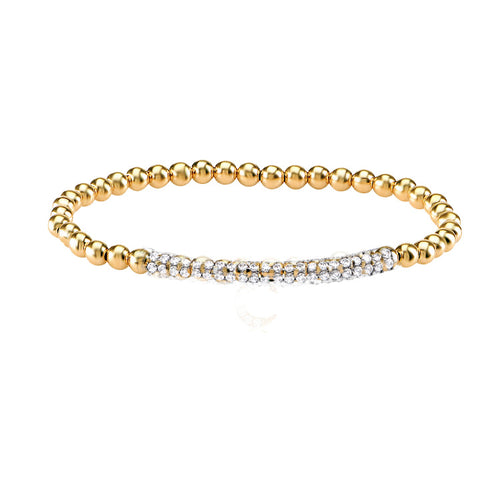 CAVIAR STRETCH BEAD BRACELET