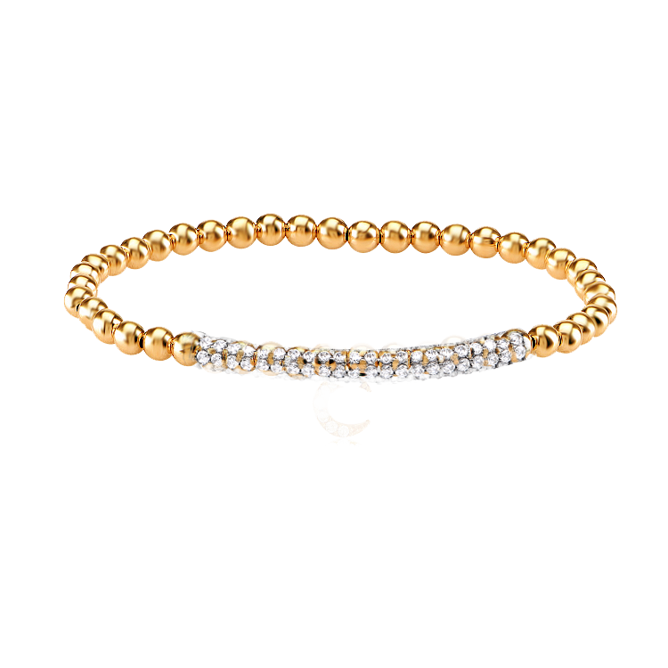CAVIAR STRETCH BEAD BRACELET - The Firestone Collection - Fashion Jewelry & Accessories