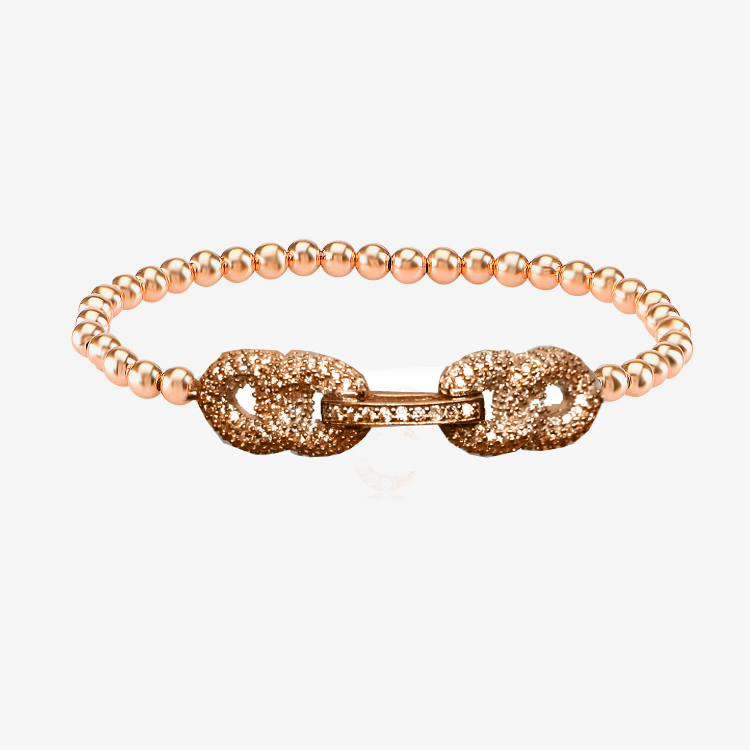 CAVIAR  PAVE LINK STRETCH BEAD  BRACELET - The Firestone Collection - Fashion Jewelry & Accessories