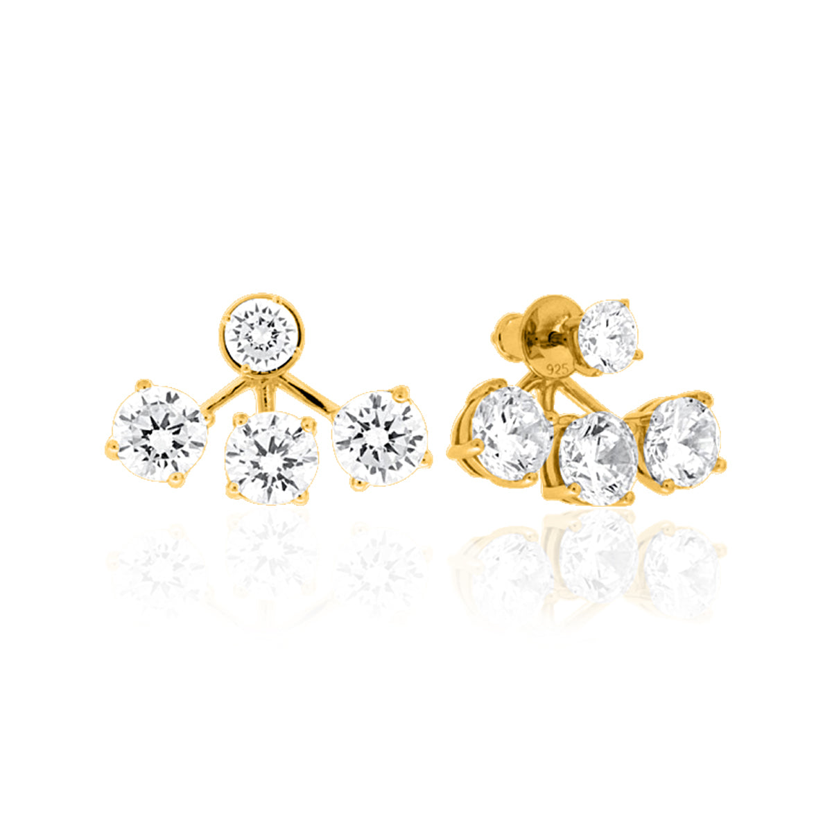 RODEO 3 STONE DROP FRONT/BACK EARRING - The Firestone Collection - Fashion Jewelry & Accessories