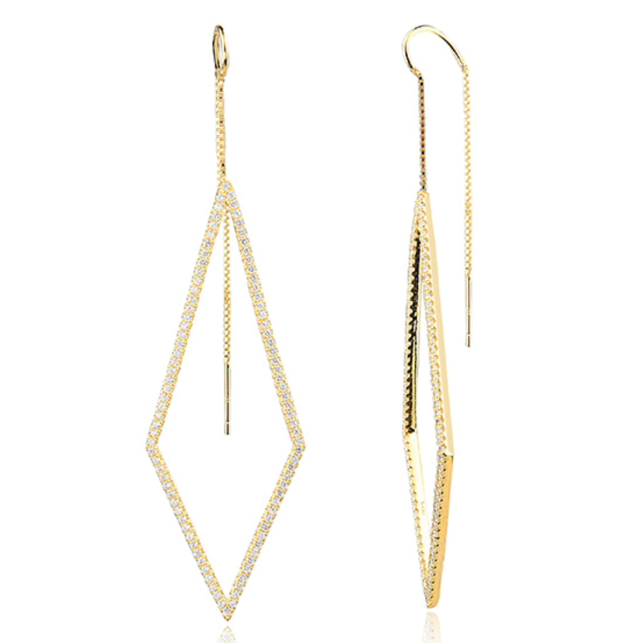 Ace Threader Earrings - The Firestone Collection - Fashion Jewelry & Accessories
