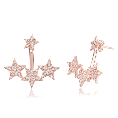 Four Star Jacket Earrings