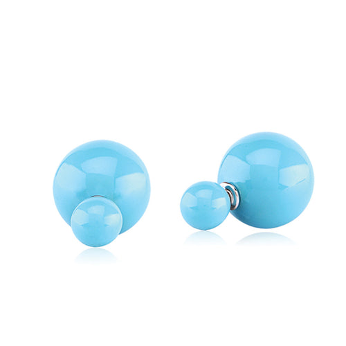 Double Bubble stud earrings - turquoise