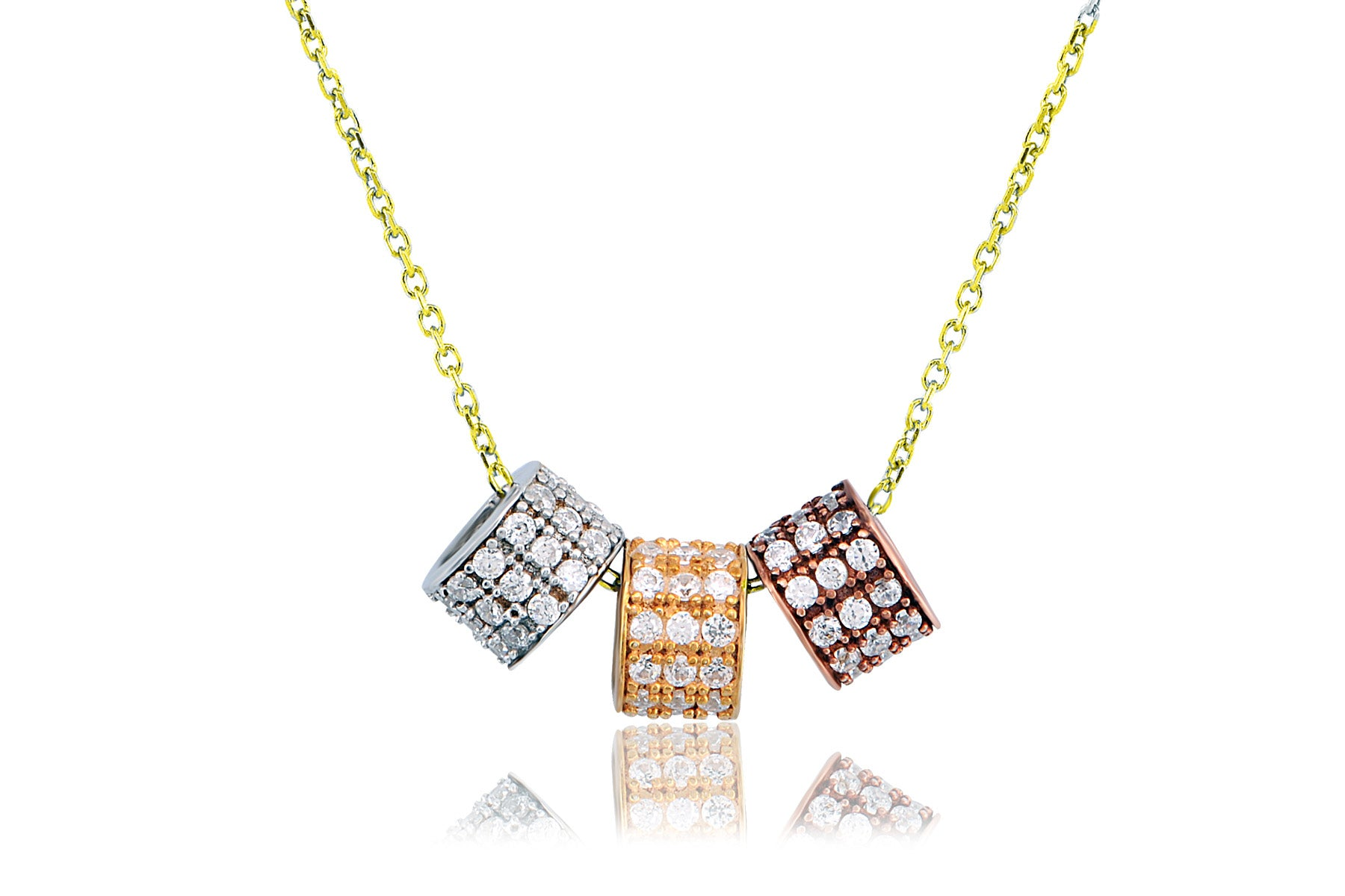 TRI-COLOR RHONDELLE NECKLACE - The Firestone Collection - Fashion Jewelry & Accessories