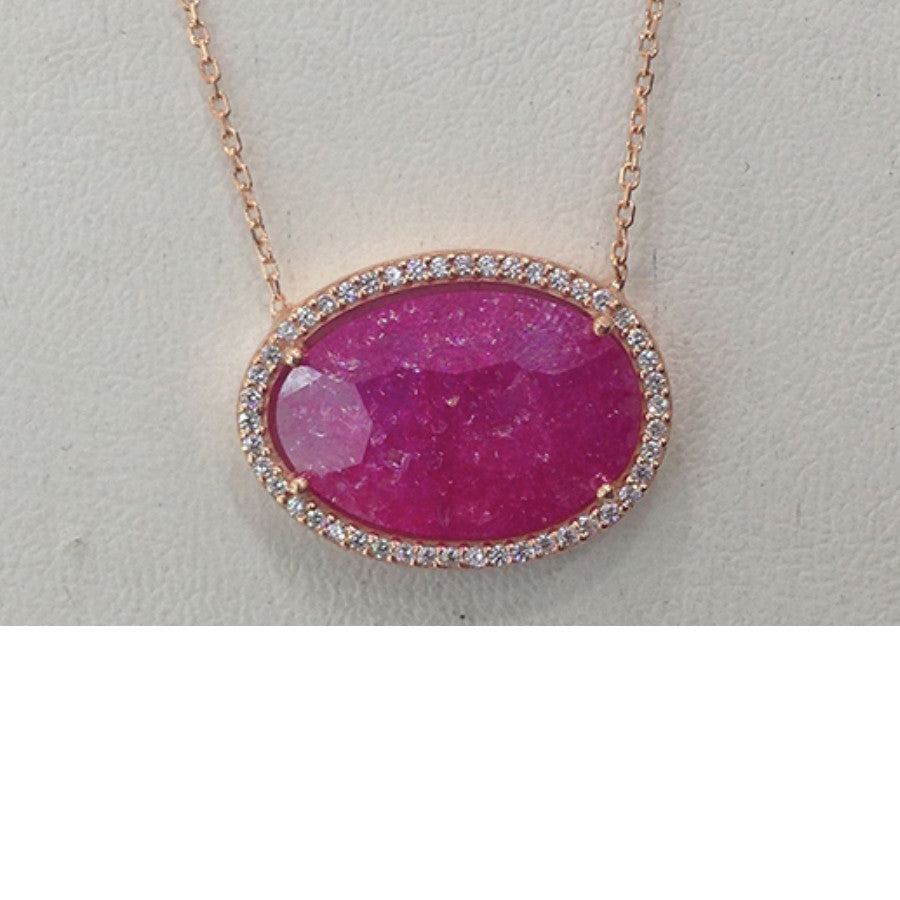 Organic Halo Pendant Necklace - The Firestone Collection - Fashion Jewelry & Accessories
