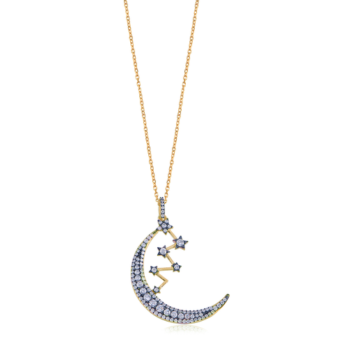 Celestial Moon & Stars Necklace