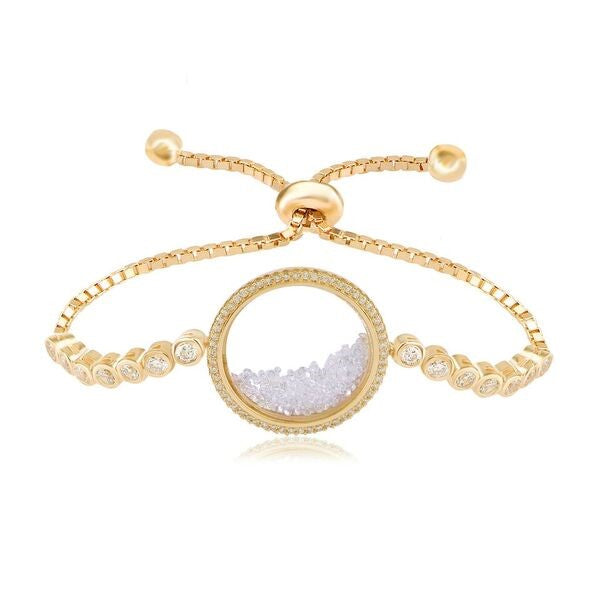 SHAKER ADJUSTABLE CZ BRACELET - The Firestone Collection - Fashion Jewelry & Accessories