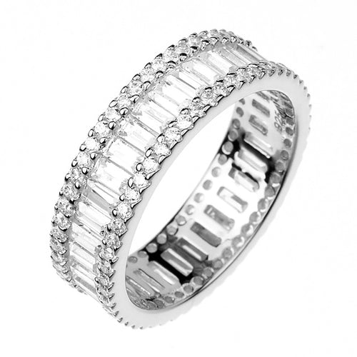 Baguette & Brilliant Eternity Band