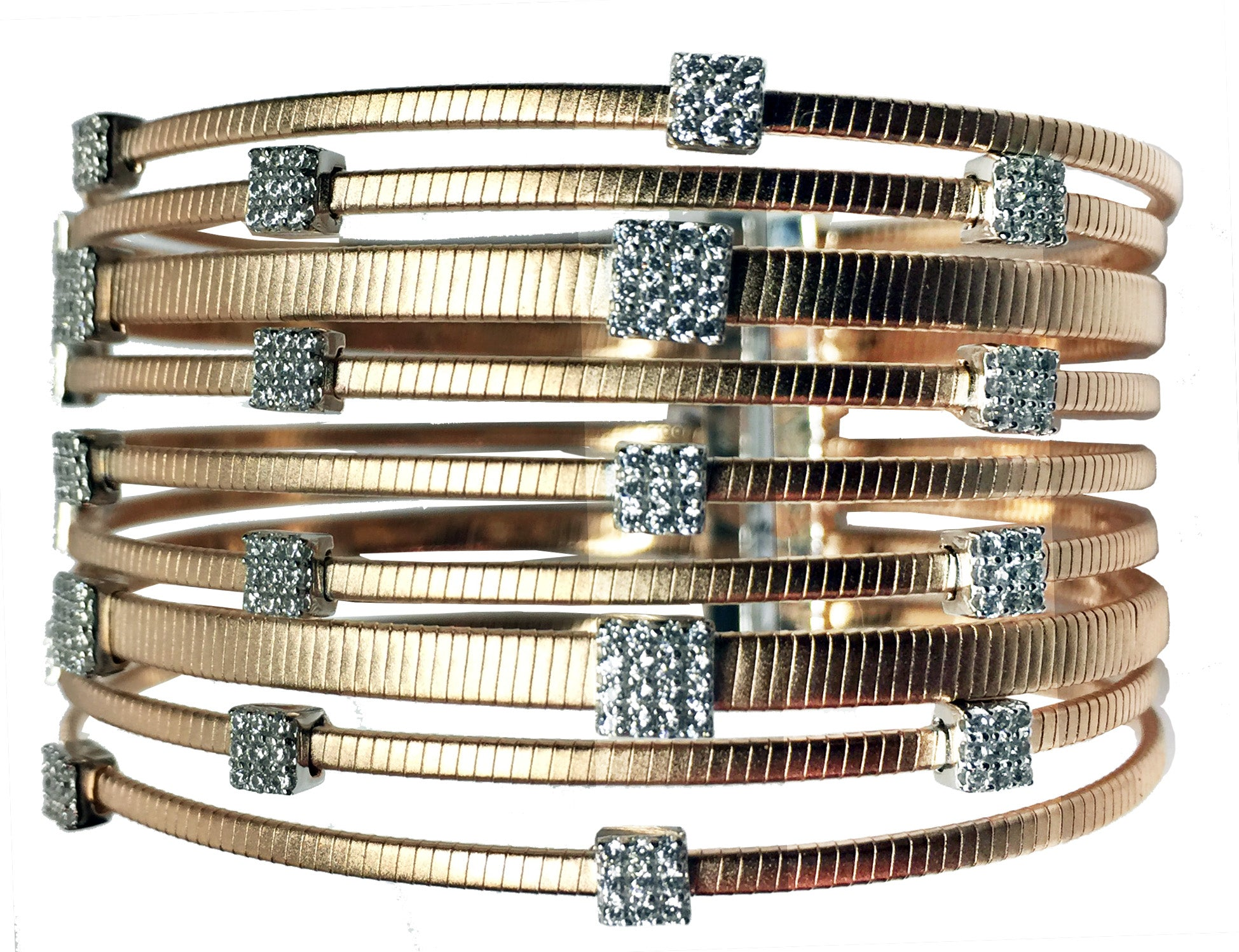 CONTEMPORARY MULTI STRAND CUFF - The Firestone Collection - Fashion Jewelry & Accessories