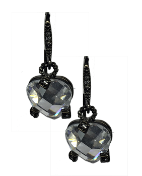 CRYSTAL HEART DROP - The Firestone Collection - Fashion Jewelry & Accessories