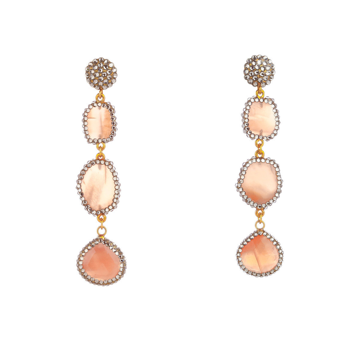 Organic Peach Earrings - The Firestone Collection - Fashion Jewelry & Accessories