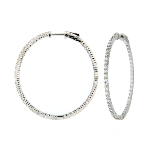 Inside Out Pave Hoop Earrings