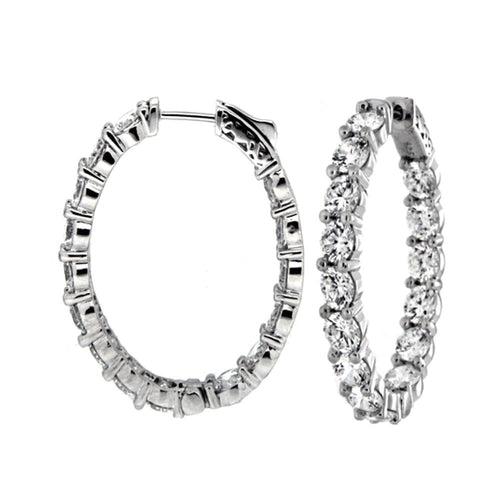 Ice Breaker Hoop Earrings - 1""