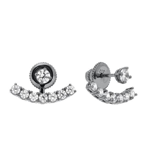 Laurie Ear Jackets - Black Rhodium