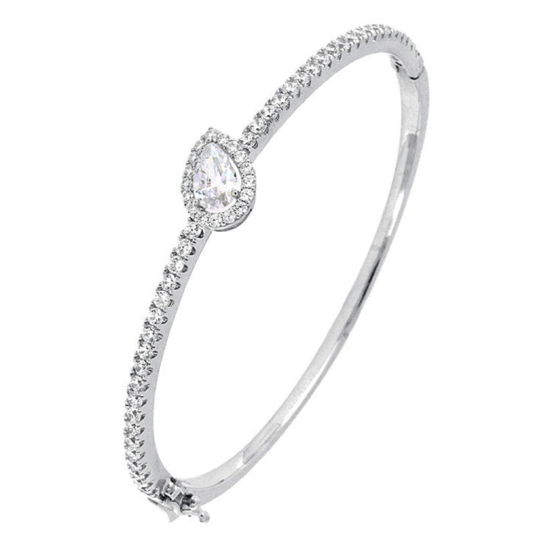 Diana Pear Bangle - The Firestone Collection - Fashion Jewelry & Accessories