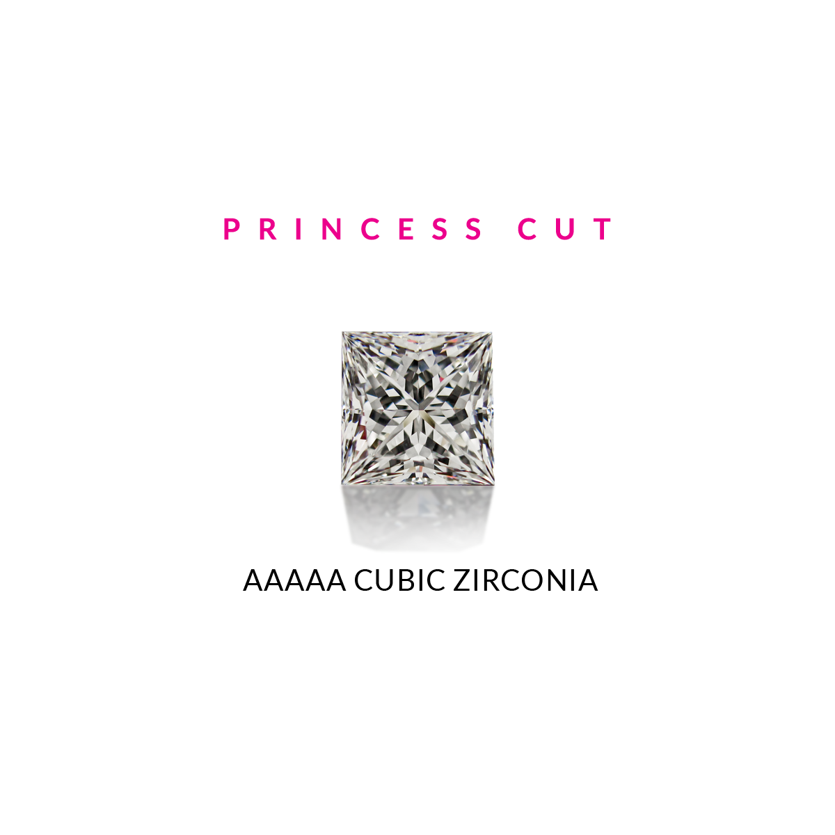 Everyday Studs Princess Bezel - The Firestone Collection - Fashion Jewelry & Accessories