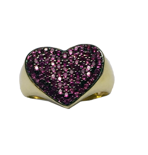 FULL PAVE HEART RING