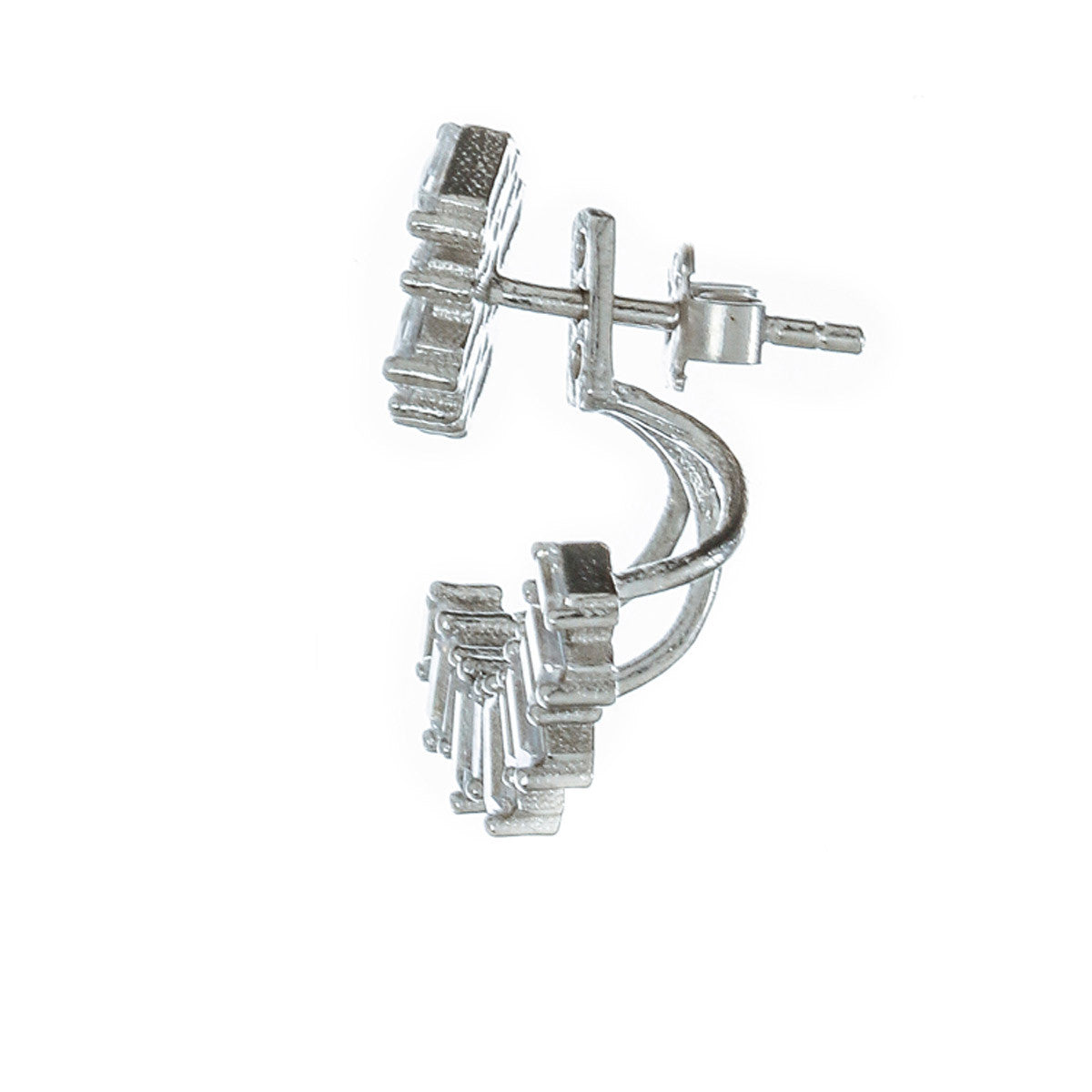 French Baguette Jacket Studs - The Firestone Collection - Fashion Jewelry & Accessories