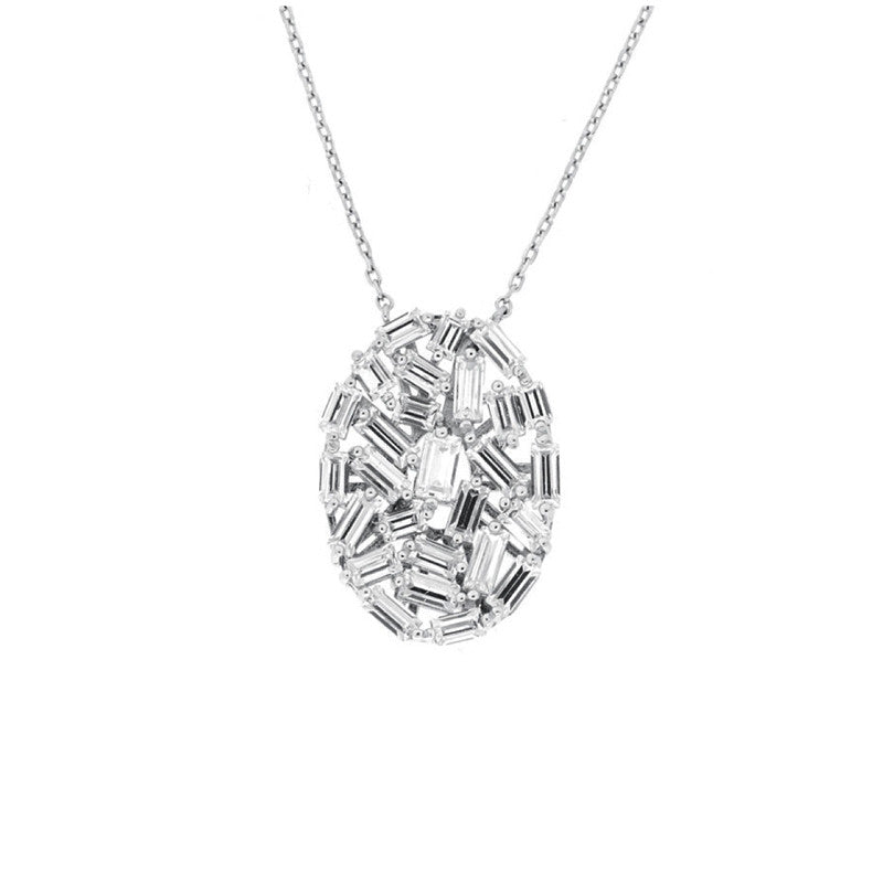RODEO DRIVE BAQUETTE NECKLACE - The Firestone Collection - Fashion Jewelry & Accessories