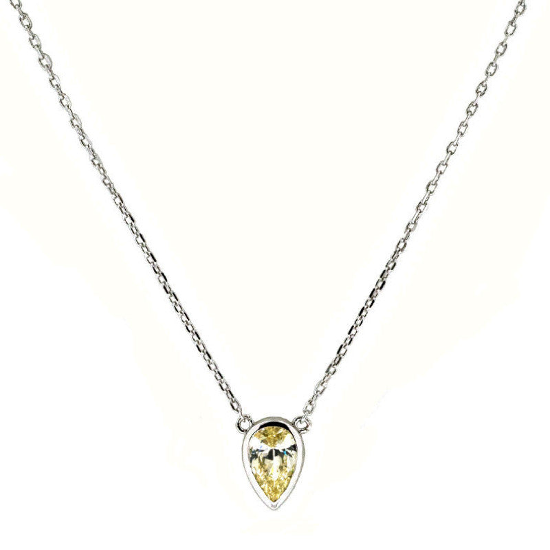 Everyday Solitaire - Bezel Pear - The Firestone Collection - Fashion Jewelry & Accessories