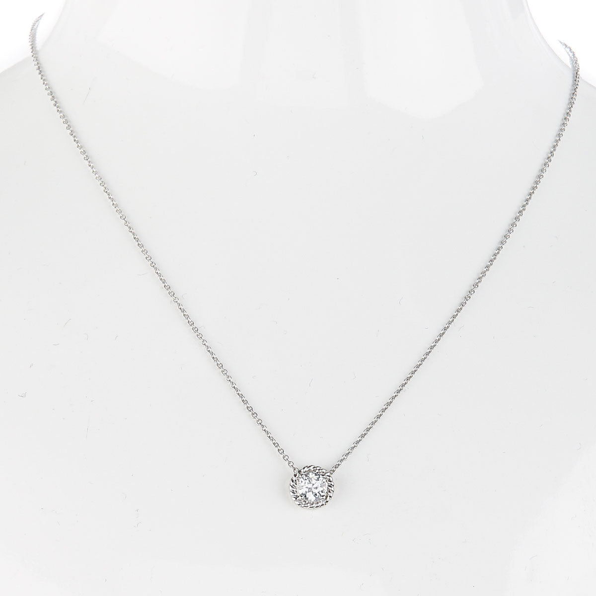 Bezel Detail Solitaire Necklace - The Firestone Collection - Fashion Jewelry & Accessories