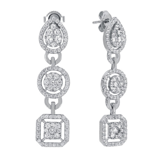 Catherine Pave Drop Earrings