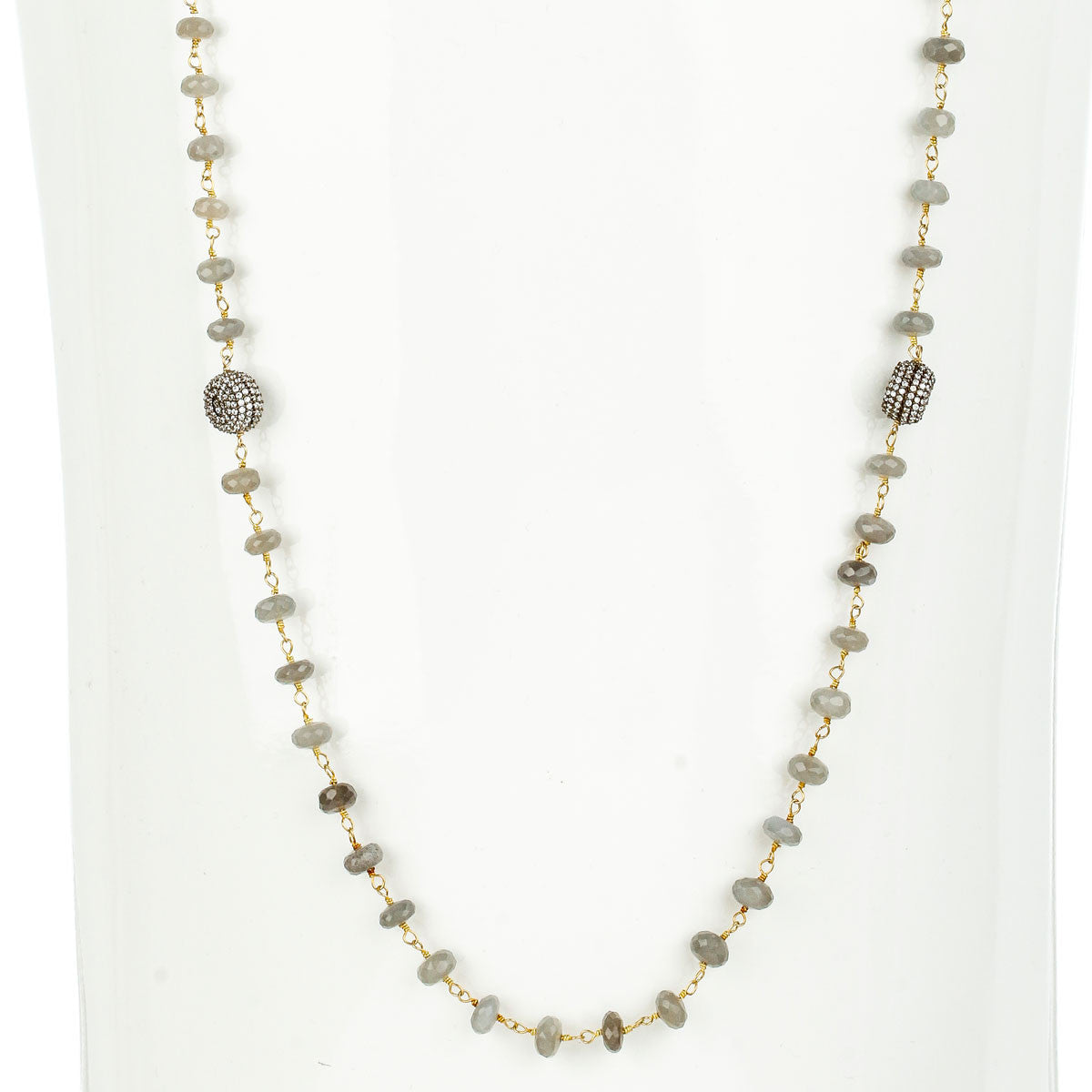 Woodley Long Station Necklace - The Firestone Collection - Fashion Jewelry & Accessories