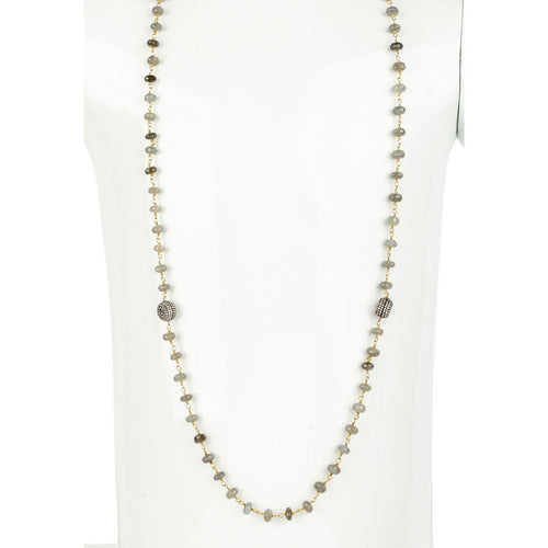 Woodley Long Station Necklace
