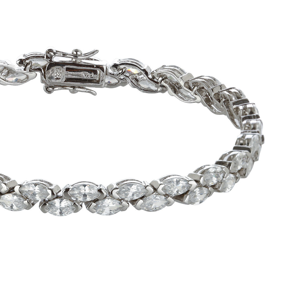 Staggered Marquis Set Tennis Bracelet - The Firestone Collection - Fashion Jewelry & Accessories